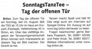 Briloner Anzeiger 20.08.2014