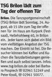 Westfalenpost 19.08.2014