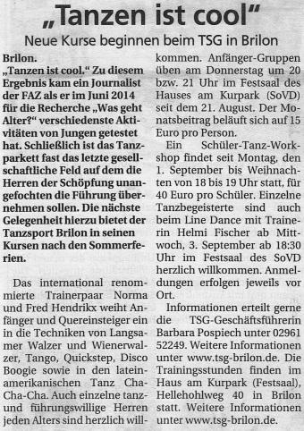 SauerlandKurier 03.09.2014