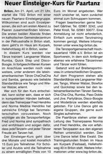 Briloner Anzeiger 13.04.2016