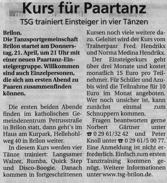 SauerlandKurier 17.04.16